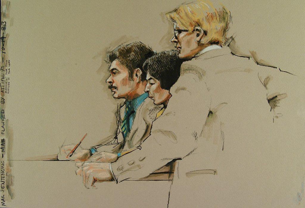Courtroom sketch วิทวัส สุนทรวิเนตร