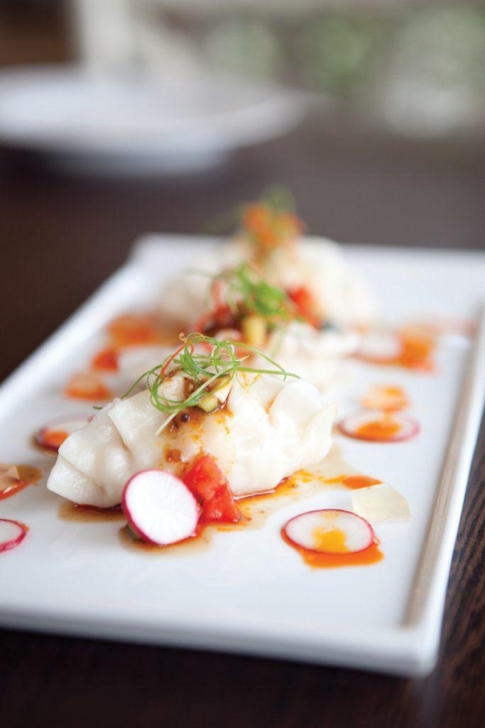อาหารไทย โมเดิร์น Prawn Pumpling