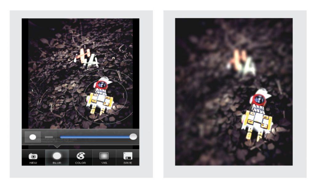 โปรแกรมถ่ายรูป ในมือถือ Tilt Shift Gen